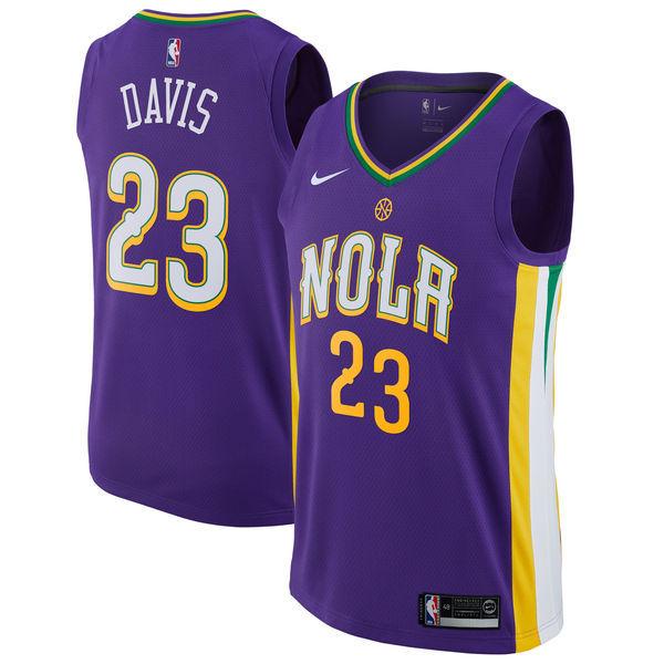Pelicans 23 Anthony Davis Purple Mardi Gras Pride Nike Swingman Jersey