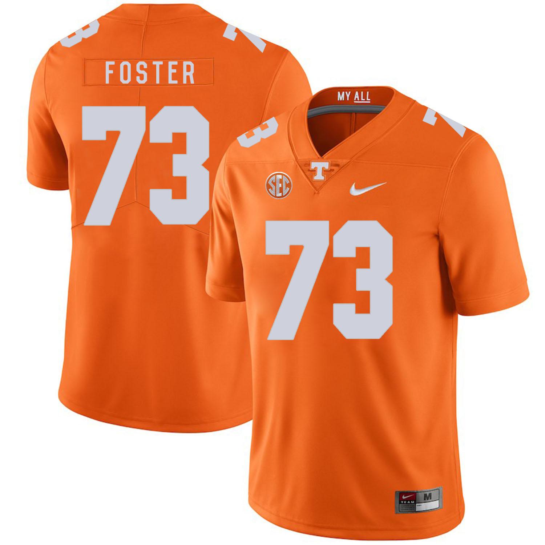 Tennessee Volunteers 73 Ramon Foster Orange Nike College Football Jersey