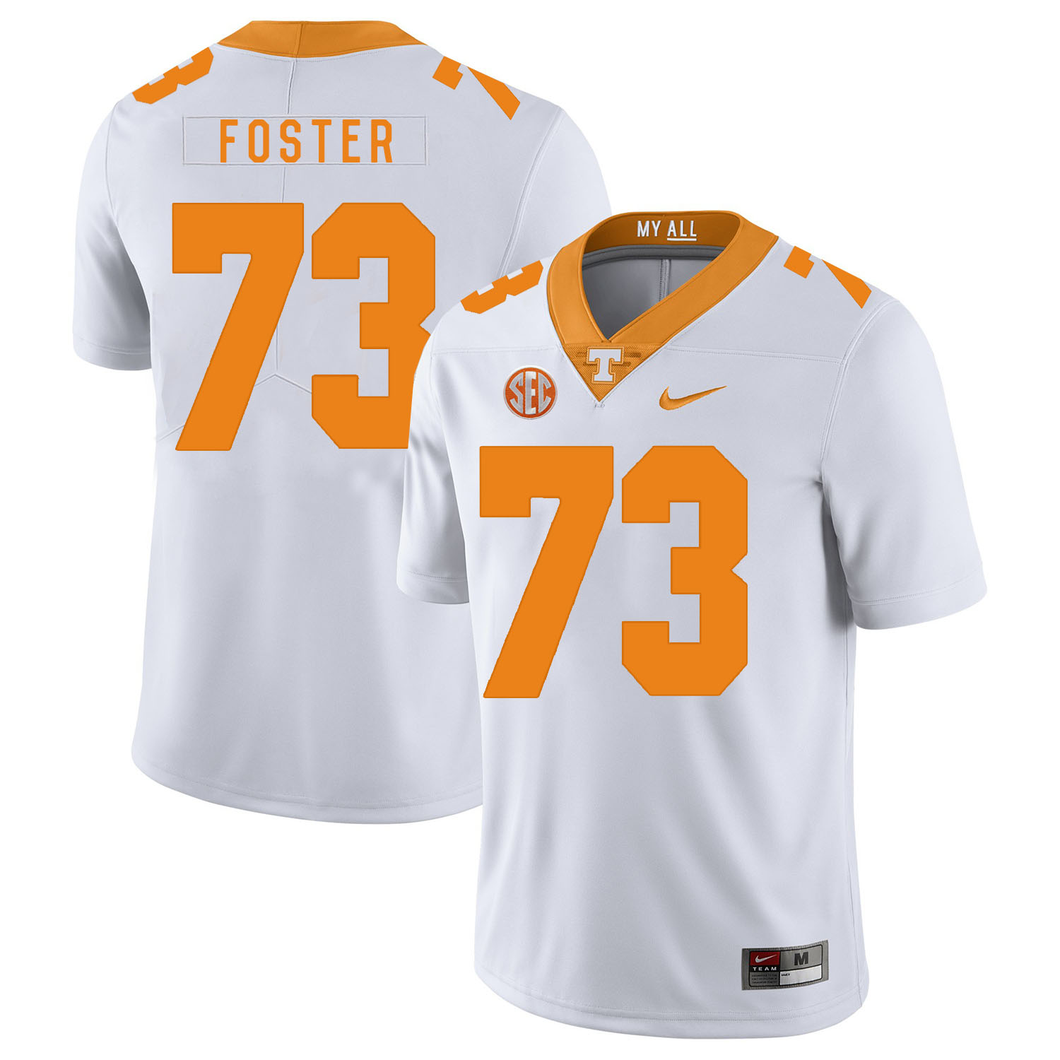 Tennessee Volunteers 73 Ramon Foster White Nike College Football Jersey
