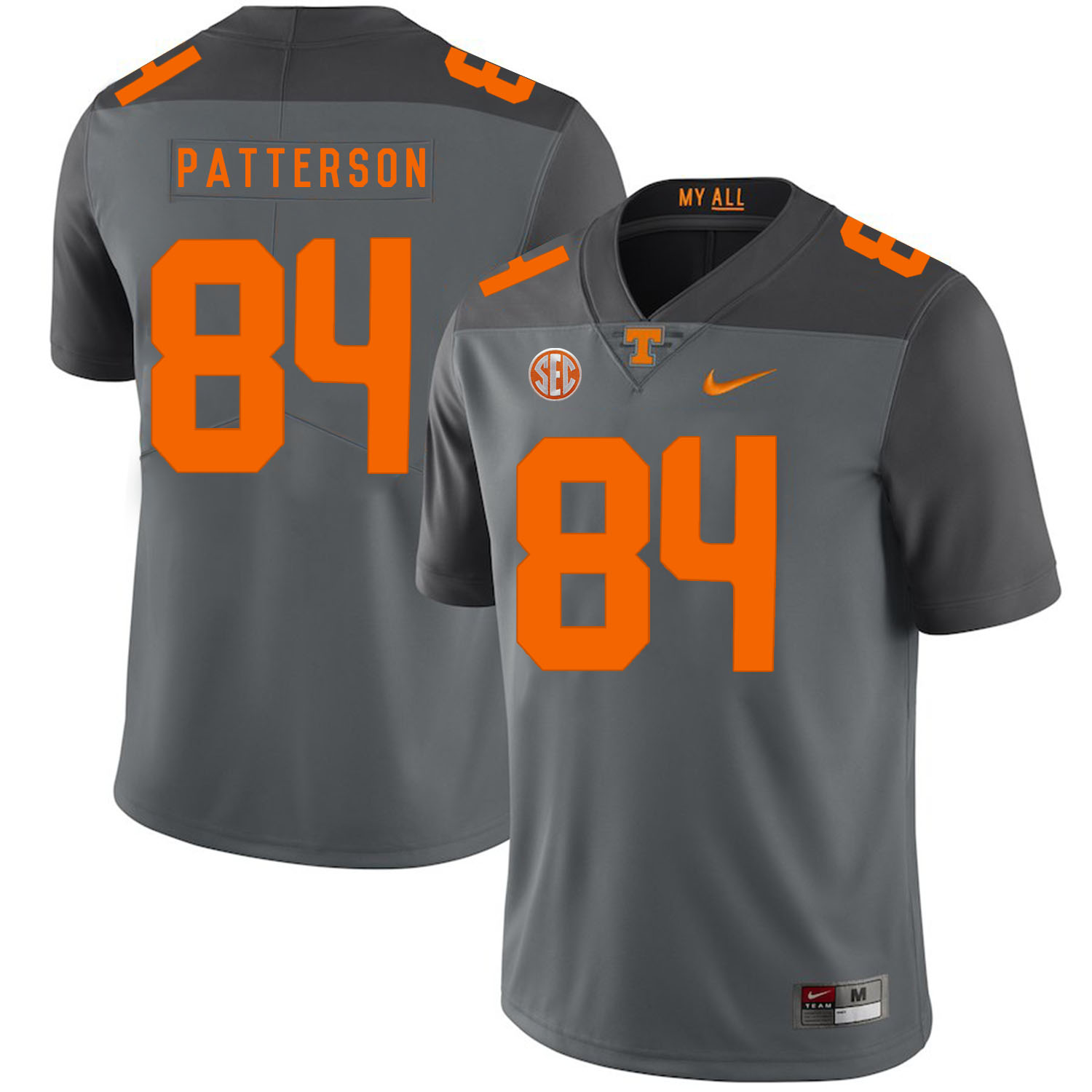Tennessee Volunteers 84 Cordarrelle Patterson Gray Nike College Football Jersey