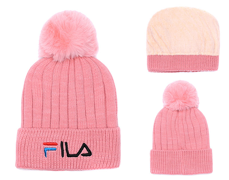 Fila Fresh Logo Pink Fashion Sport Knit Hat SG