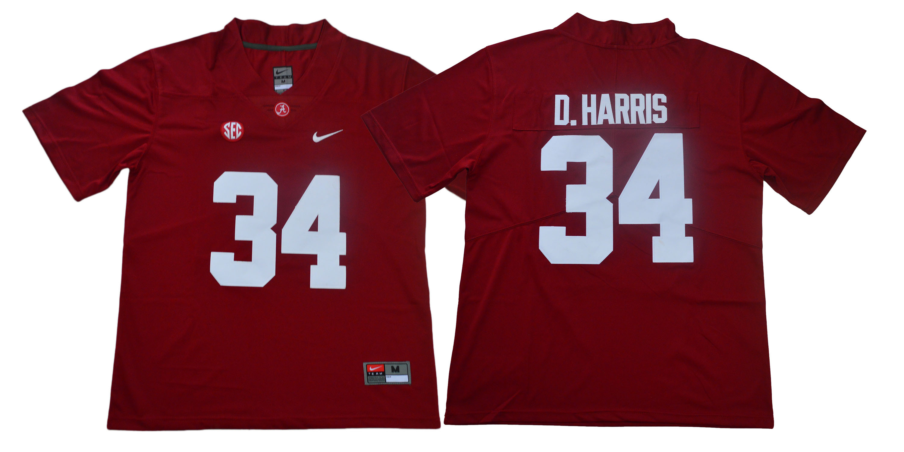 Alabama Crimson Tide 34 Damien Harris Red Nike College Football Jersey