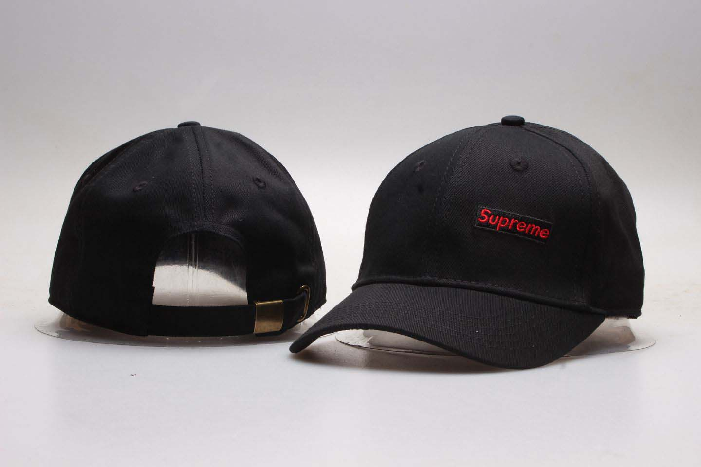 Supreme Fresh Logo Black Snapback Adjustable Hats YP
