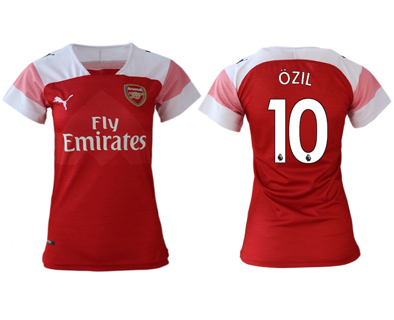 2018-19 Arsenal 10 OZIL Home Women Soccer Jersey