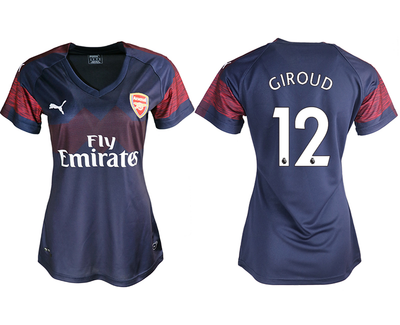 2018-19 Arsenal 12 GIROUD Away Women Soccer Jersey