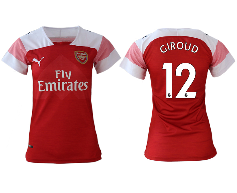 2018-19 Arsenal 12 GIROUD Home Women Soccer Jersey