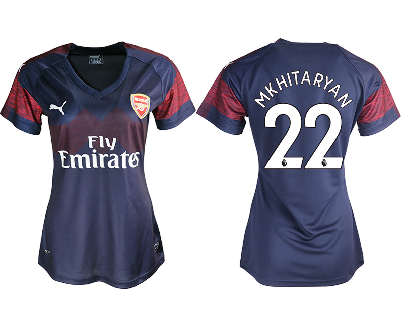 2018-19 Arsenal 22 MKHITARYAN Away Women Soccer Jersey