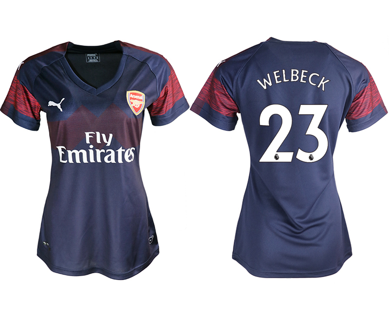 2018-19 Arsenal 23 WELBECK Away Women Soccer Jersey