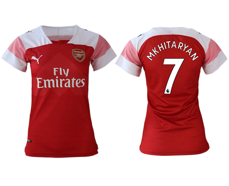 2018-19 Arsenal 7 MKHITARYAN Home Women Soccer Jersey