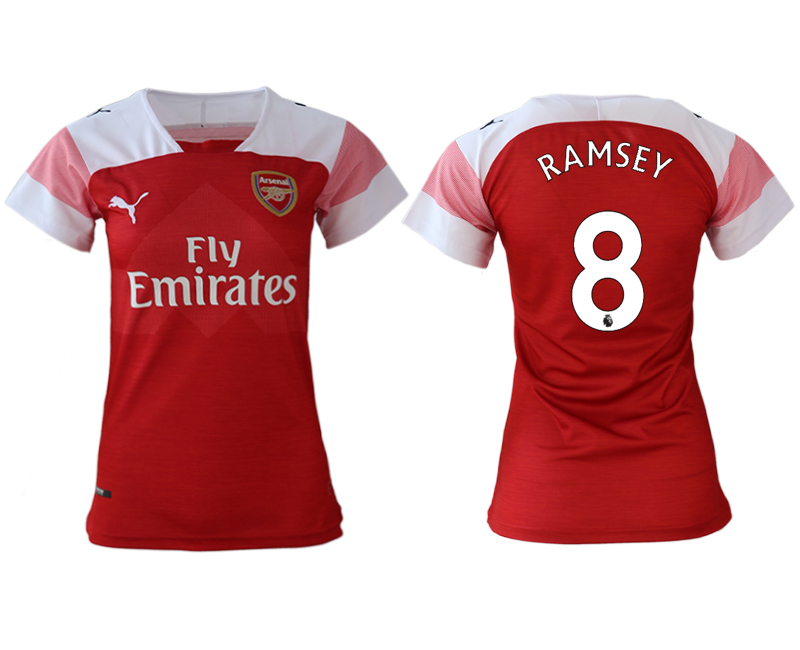 2018-19 Arsenal 8 RAMSEY Home Women Soccer Jersey