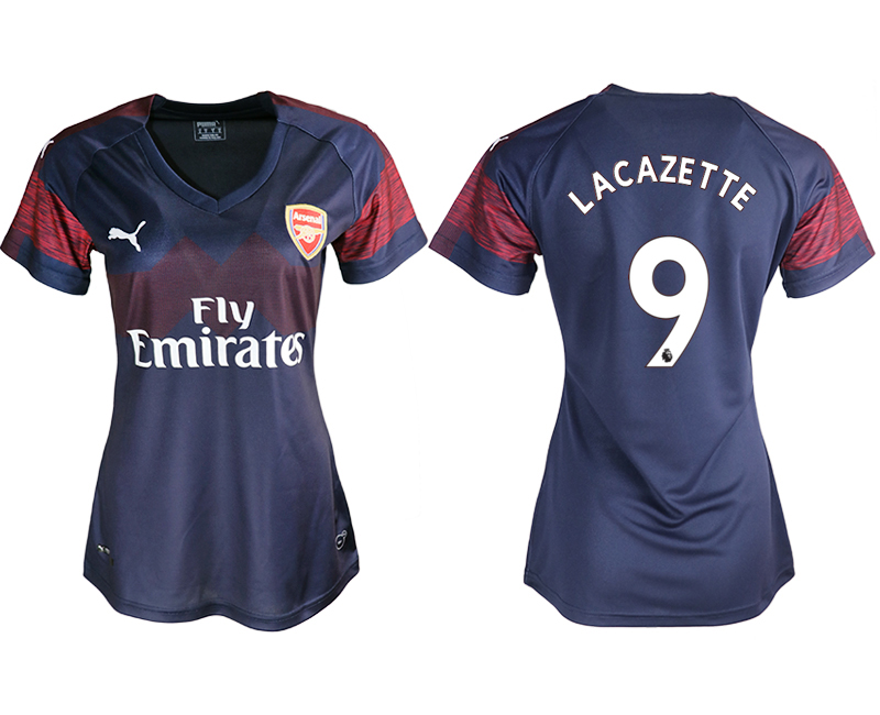 2018-19 Arsenal 9 LACAZETTE Away Women Soccer Jersey