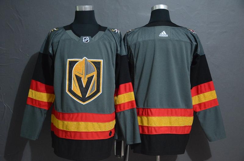 Vegas Golden Knights Blank Gray Adidas Jersey