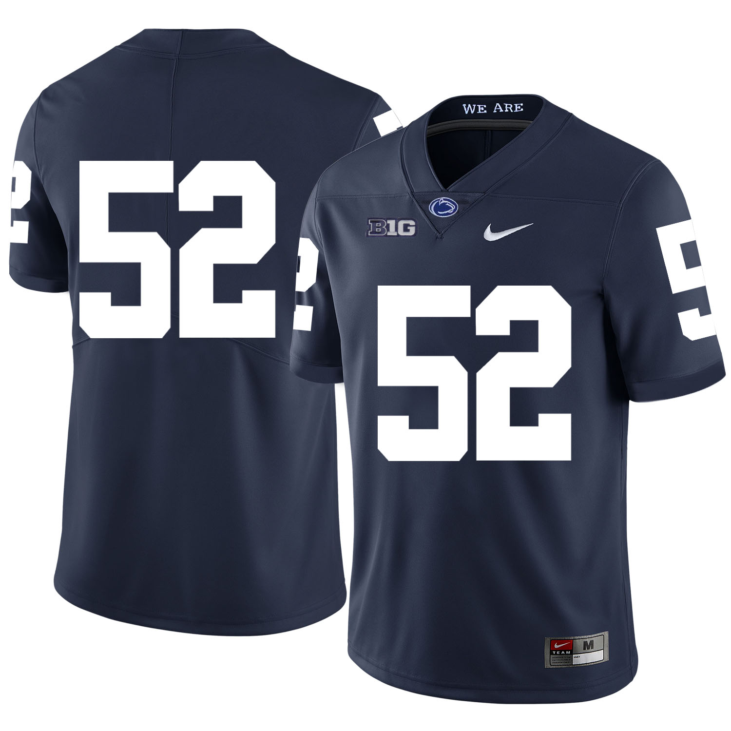 Penn State Nittany Lions 52 Curtis Cothran Navy Nike College Football Jersey
