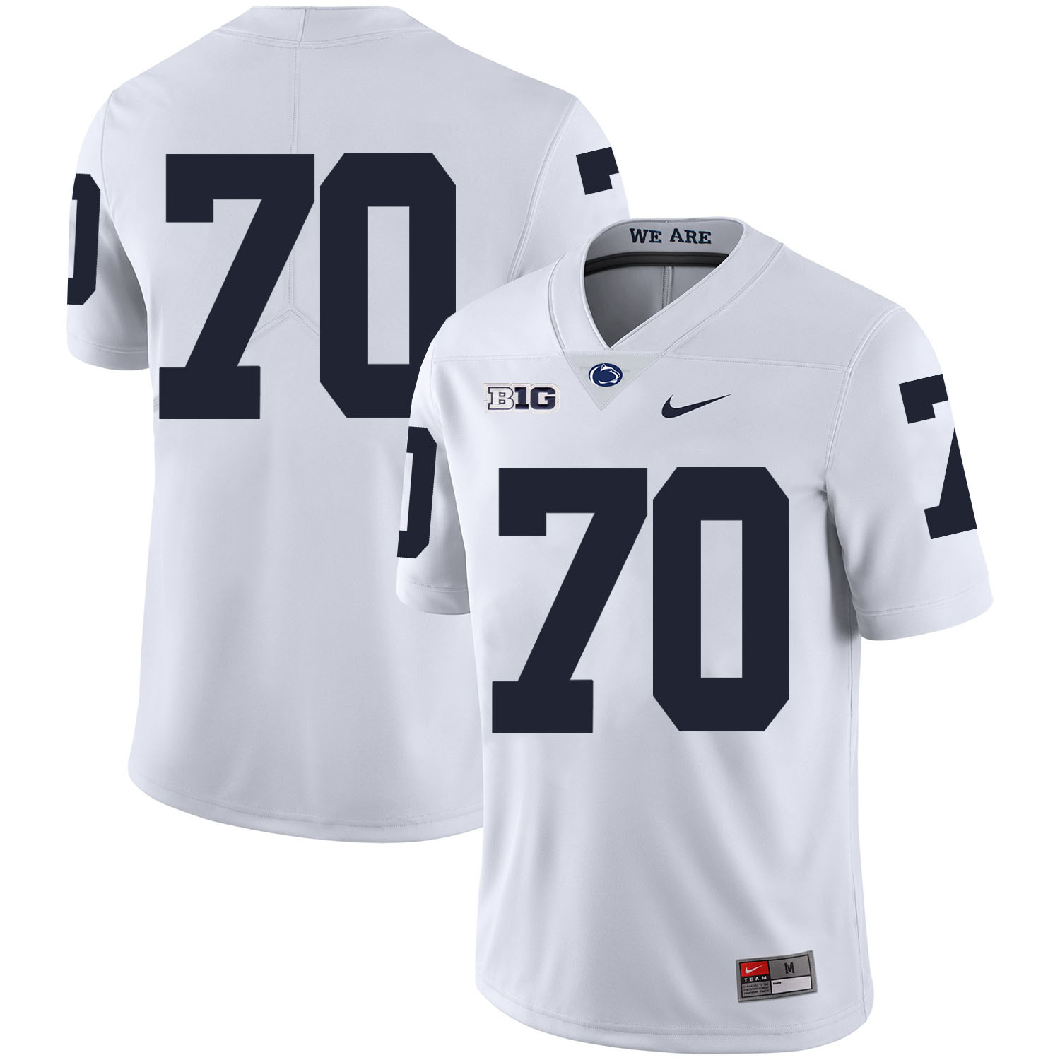 Penn State Nittany Lions 70 Mahon Blocks White Nike College Football Jersey