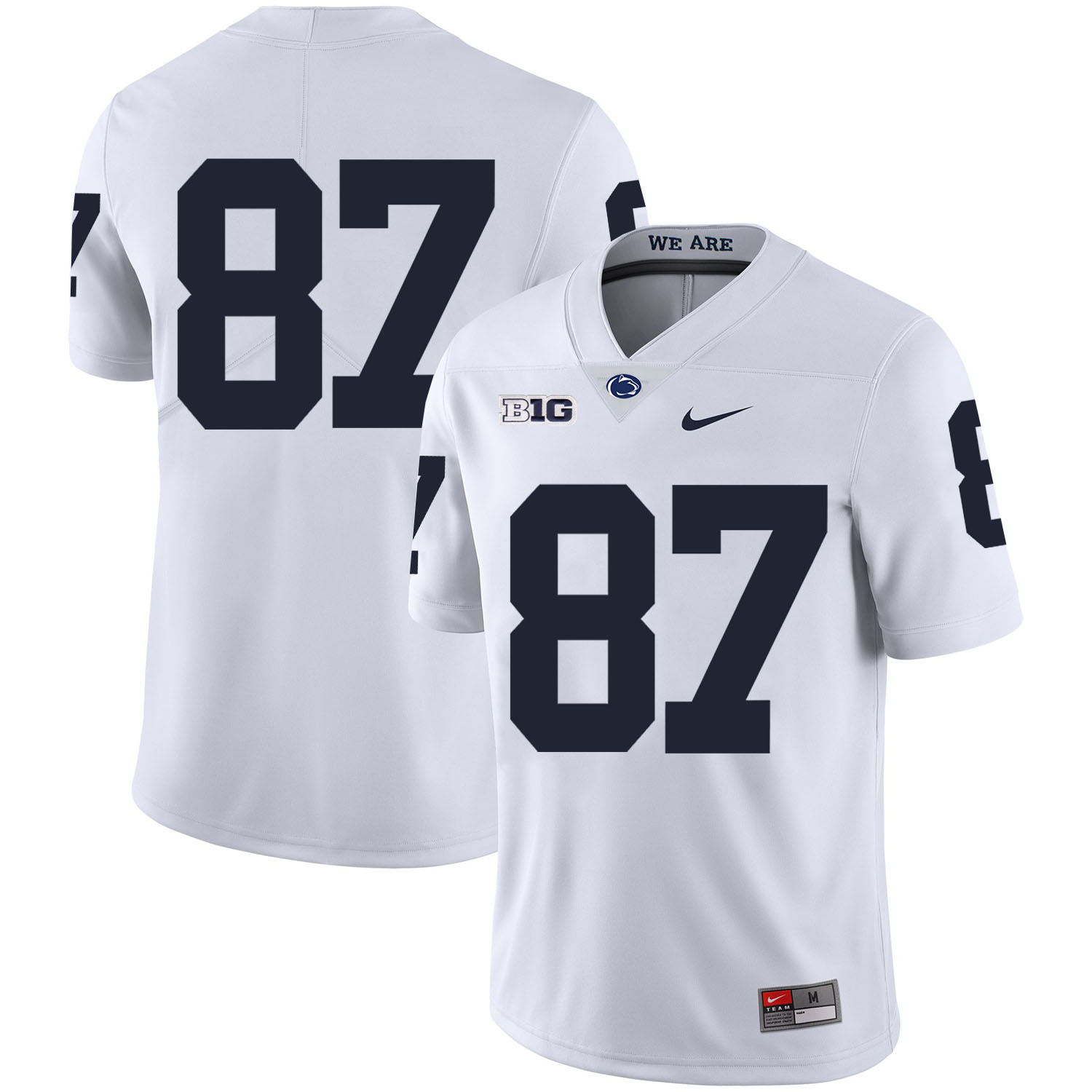 Penn State Nittany Lions 87 Kyle Carter White Nike College Football Jersey