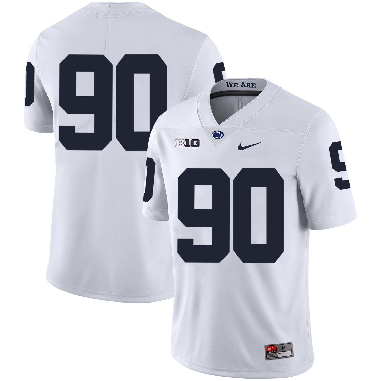 Penn State Nittany Lions 90 Garrett Sickels White Nike College Football Jersey