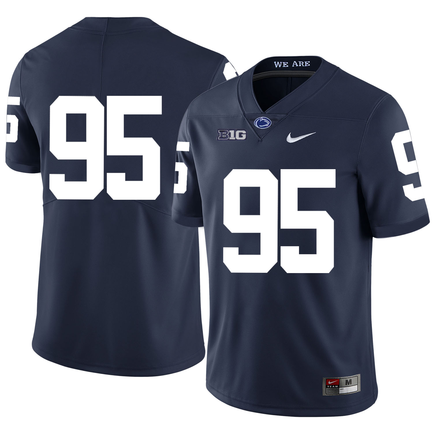 Penn State Nittany Lions 95 Carl Nassib Navy Nike College Football Jersey