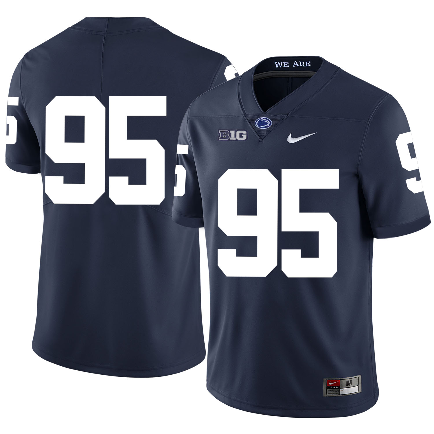 Penn State Nittany Lions 95 Tyler Davis Navy Nike College Football Jersey