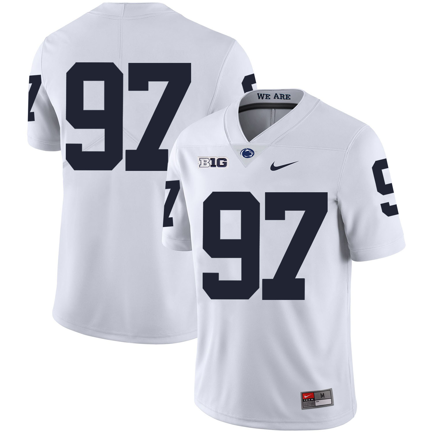 Penn State Nittany Lions 97 Sam Ficken White Nike College Football Jersey