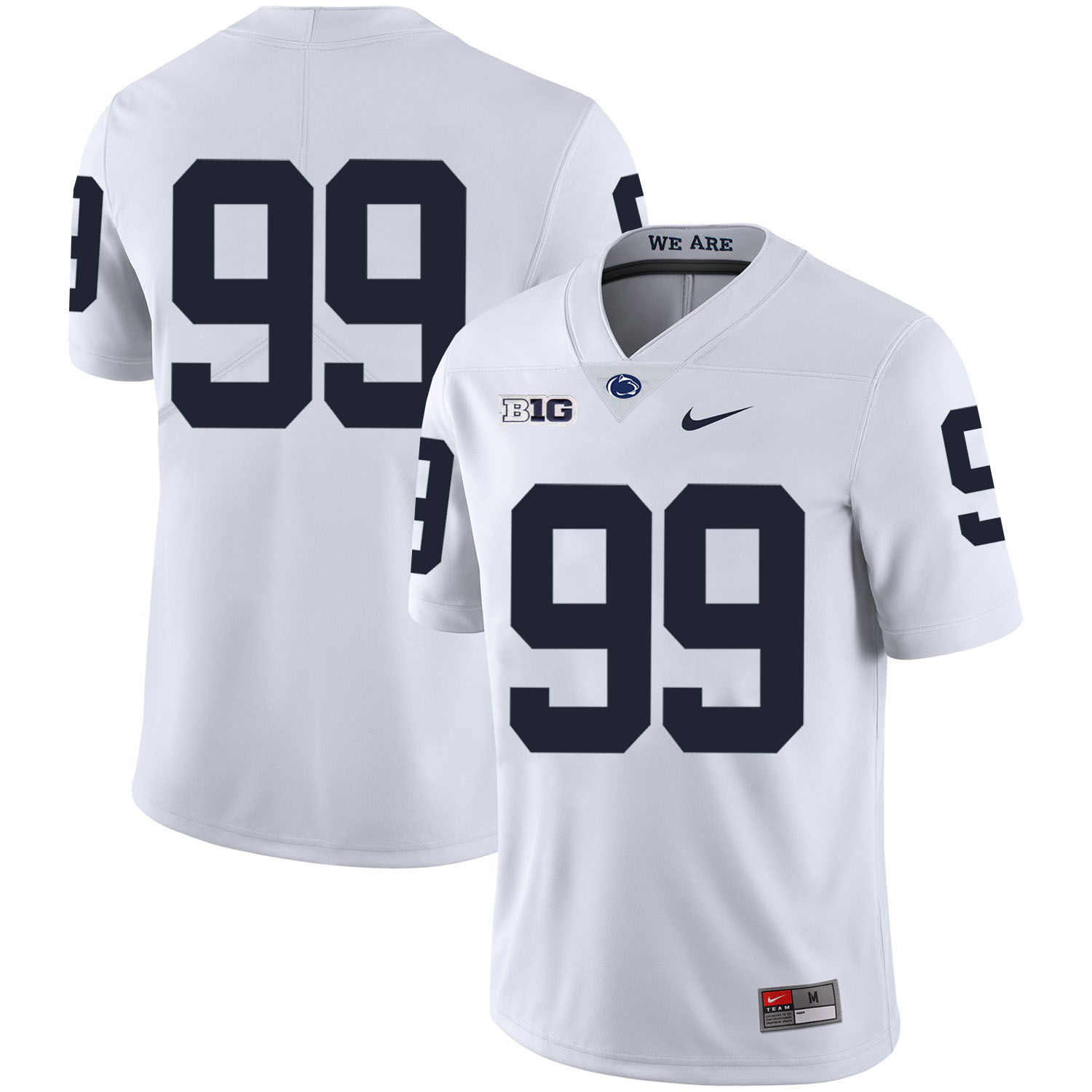 Penn State Nittany Lions 99 Austin Johnson White Nike College Football Jersey