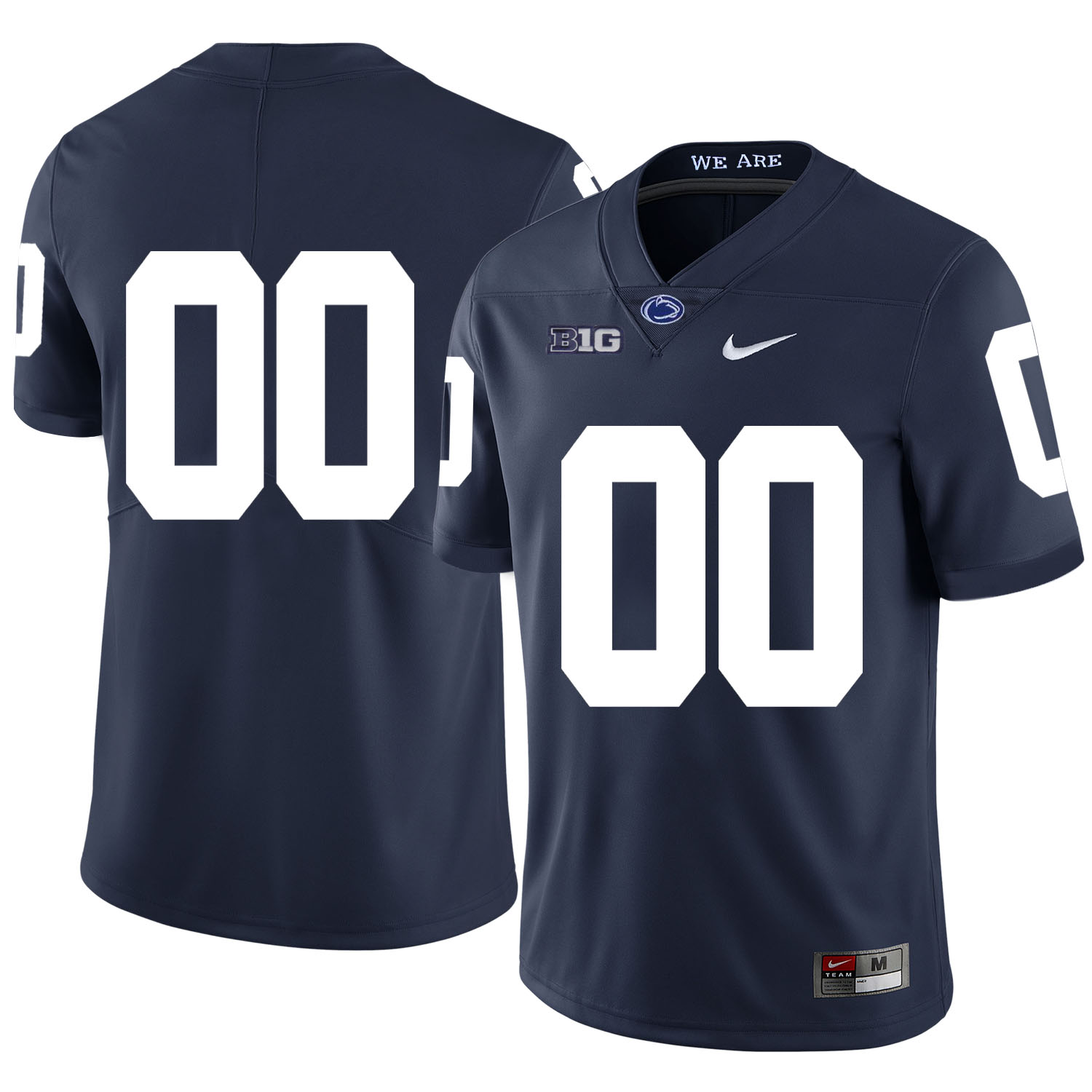 Penn State Nittany Lions Navy Men's Customized Nike College Football Jersey