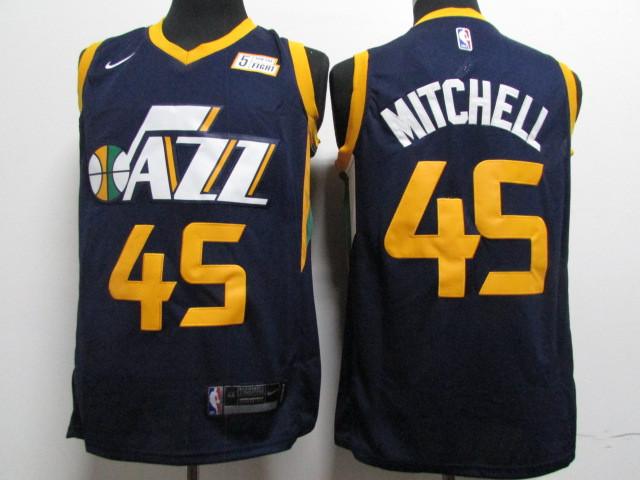Jazz 45 Donovan Mitchell Navy Nike Swingman Jersey