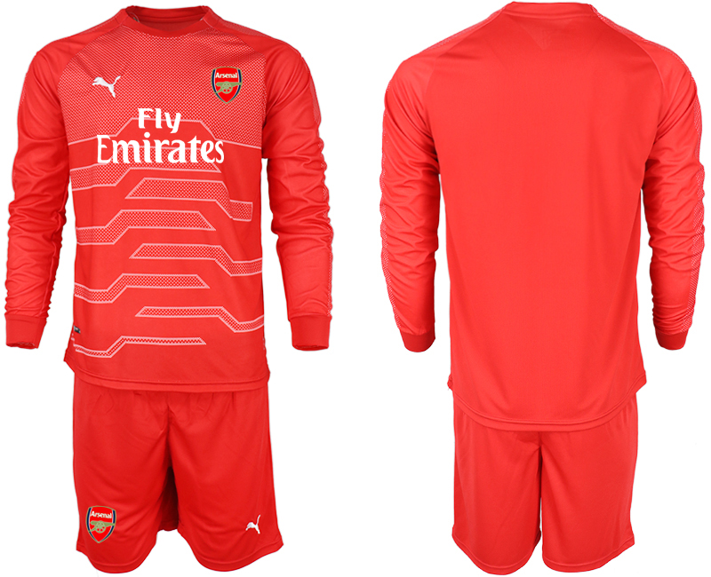 2018-19 Arsenal Red Long Sleeve Goalkeeper Soccer Jersey