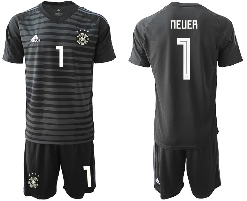 2018-19 Germany 1 NEUER Black Goalkeeper Soccer Jersey