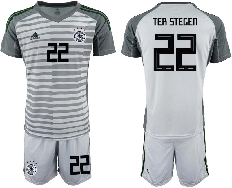 2018-19 Germany 22 TER STEGEN Gray Goalkeeper Soccer Jersey