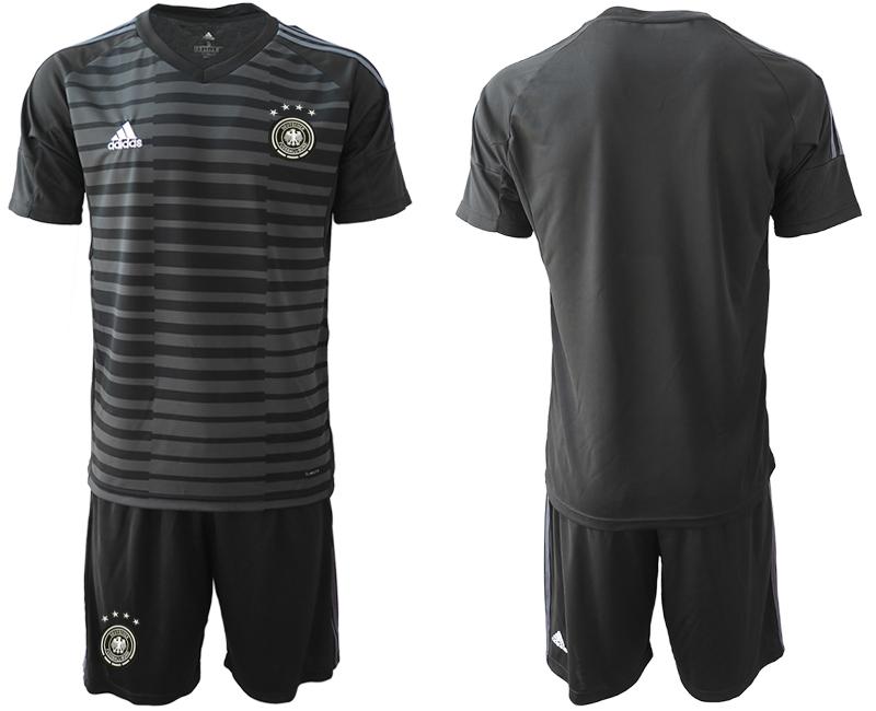 2018-19 Germany Black Goalkeeper Soccer Jersey