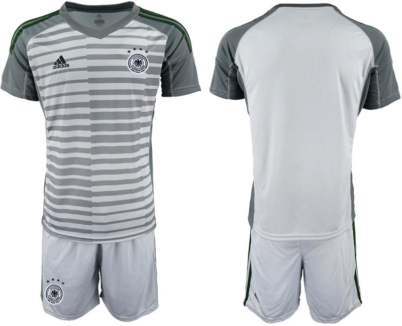 2018-19 Germany Gray Goalkeeper Soccer Jersey