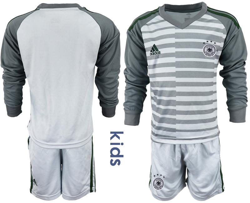 2018-19 Germany Gray Youth Long Sleeve Goalkeeper Soccer Jersey