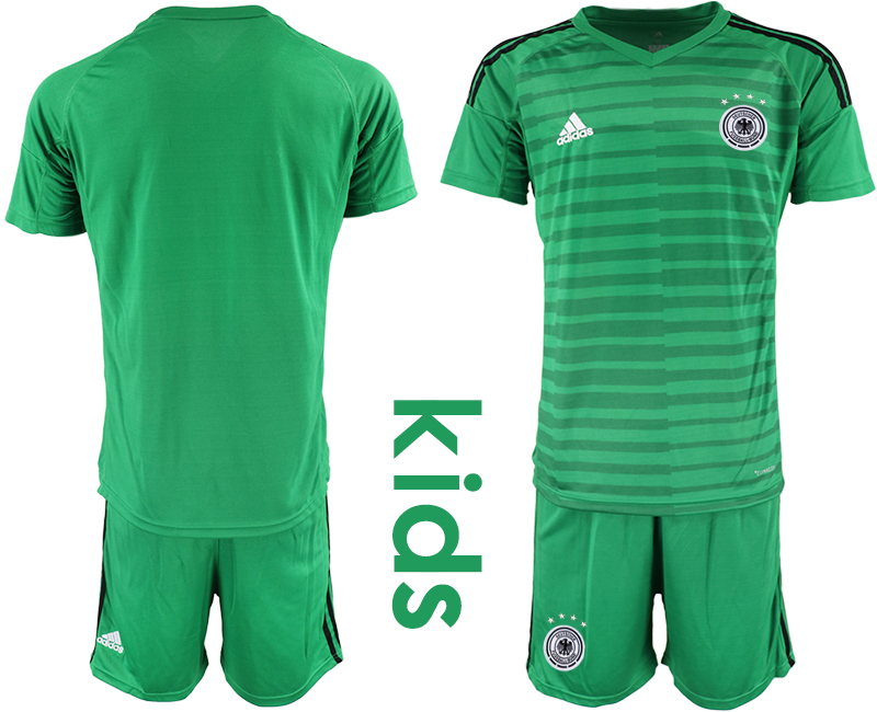 2018-19 Germany Green Youth Goalkeeper Soccer Jersey