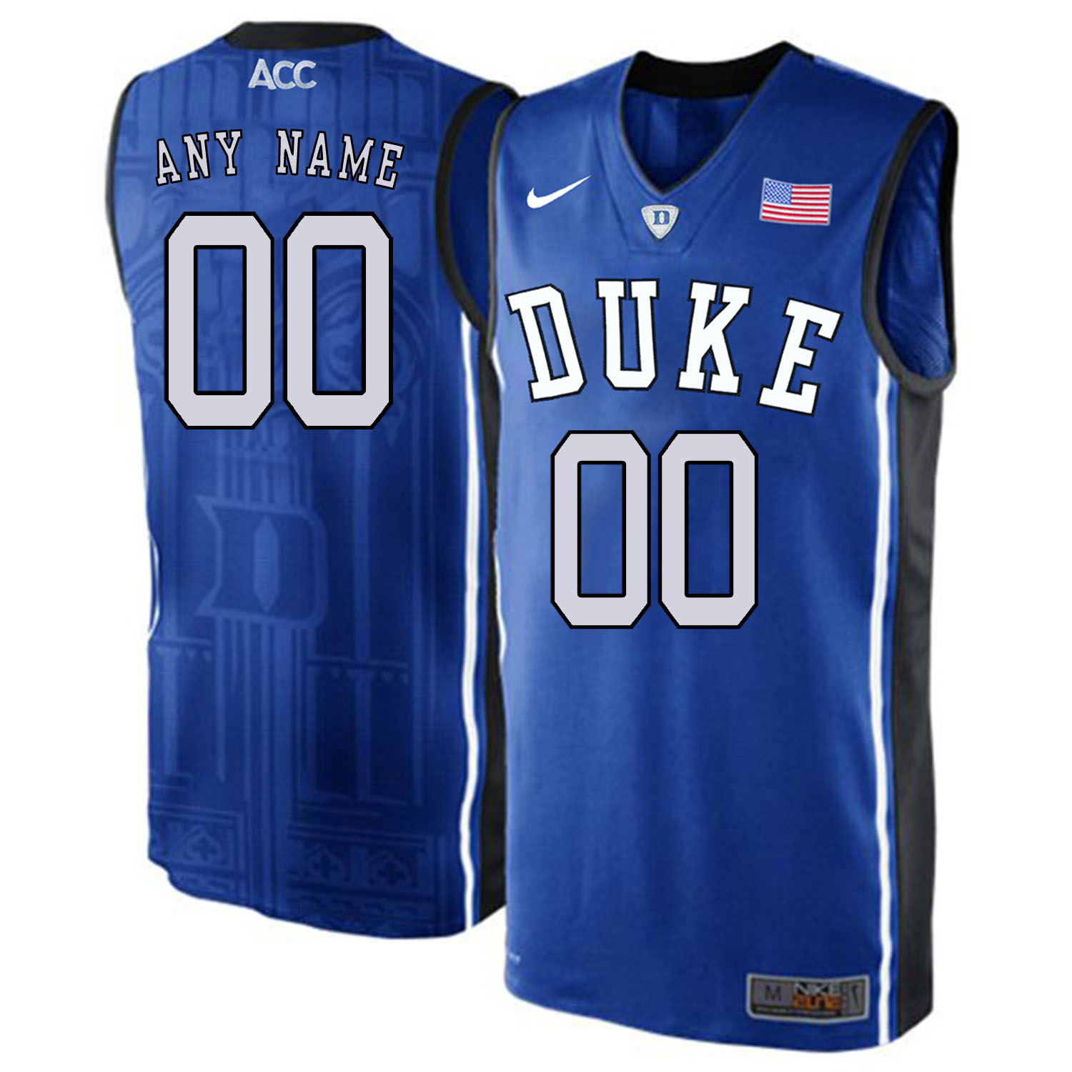 Duke Blue Devils Men's Customized Blue Elite Nike College Basketball Jersey