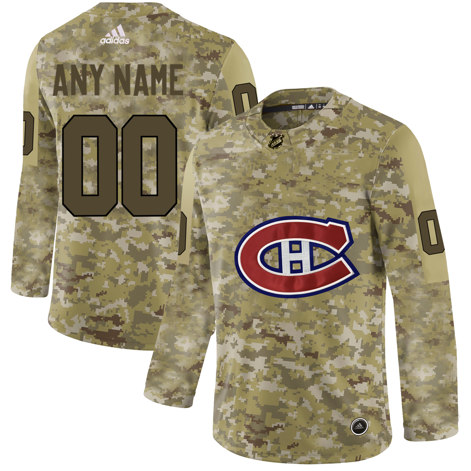 Montreal Canadiens Camo Men's Customized Adidas Jersey