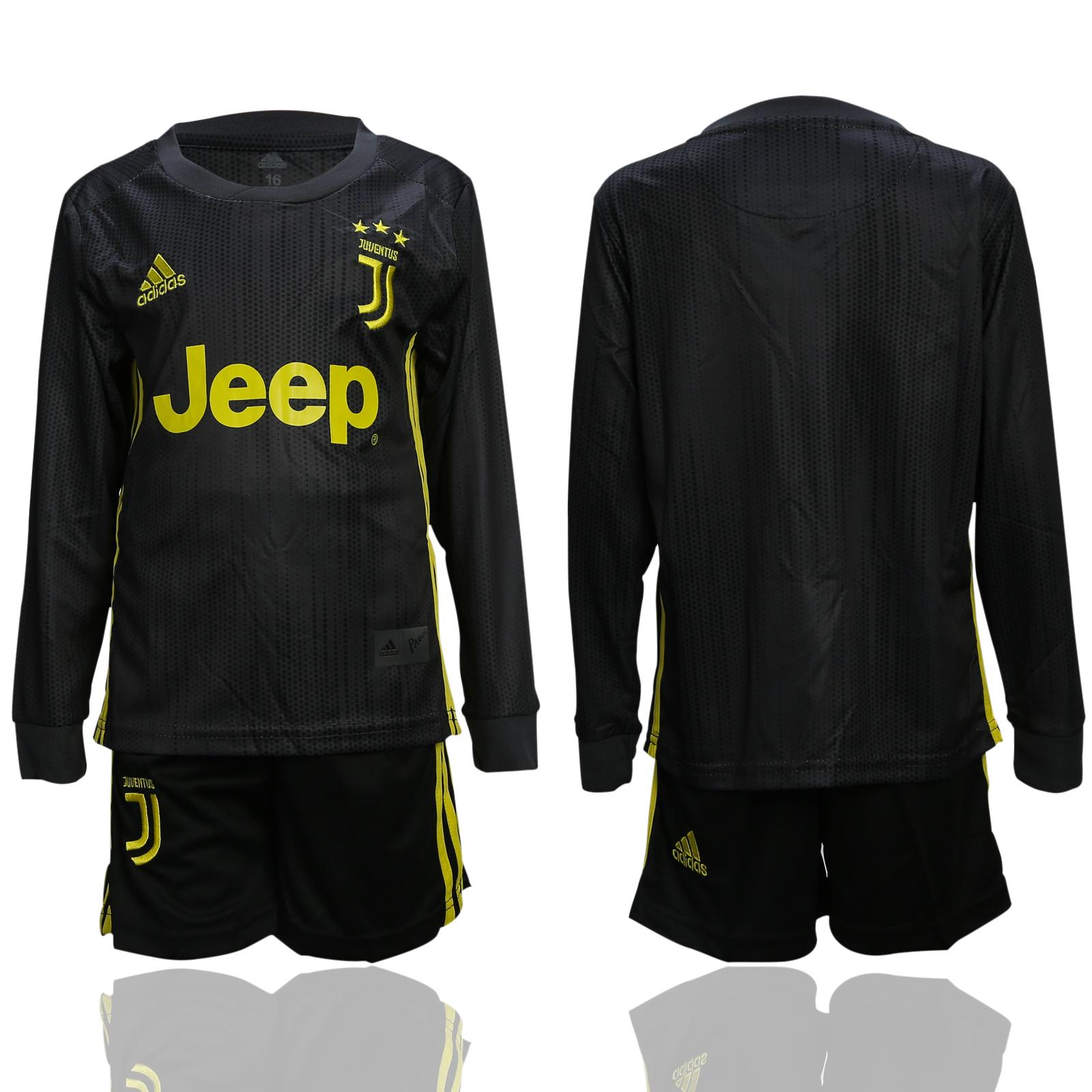 2018-19 Juventus Third Away Youth Long Sleeve Soccer Jersey