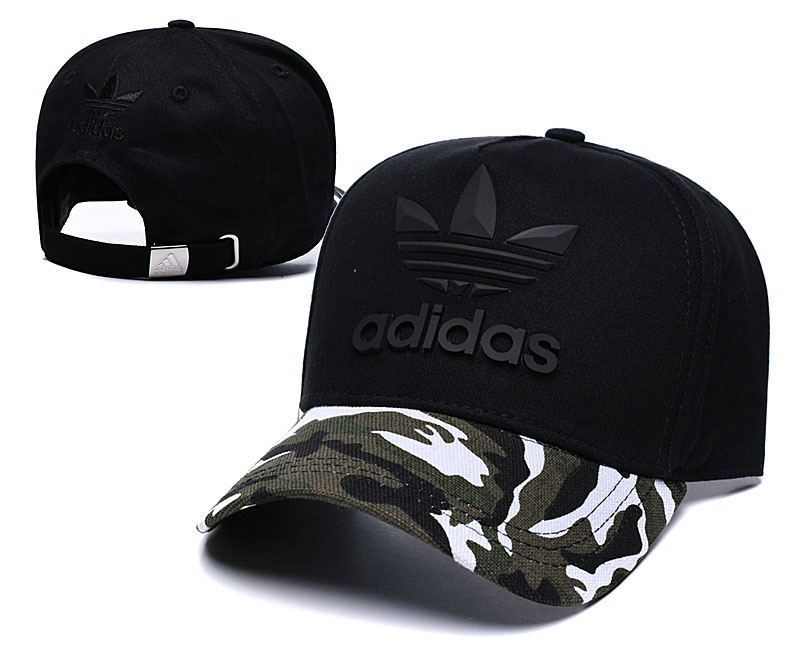Adidas Originals Classic Black Camo Peaked Adjustable Hat TX