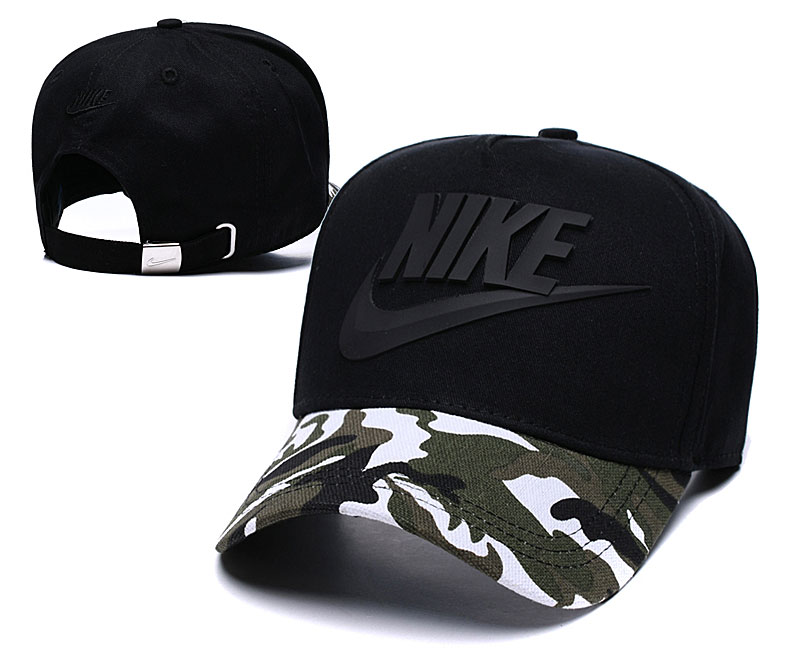 Nike Classic Black Camo Peaked Adjustable Hat TX