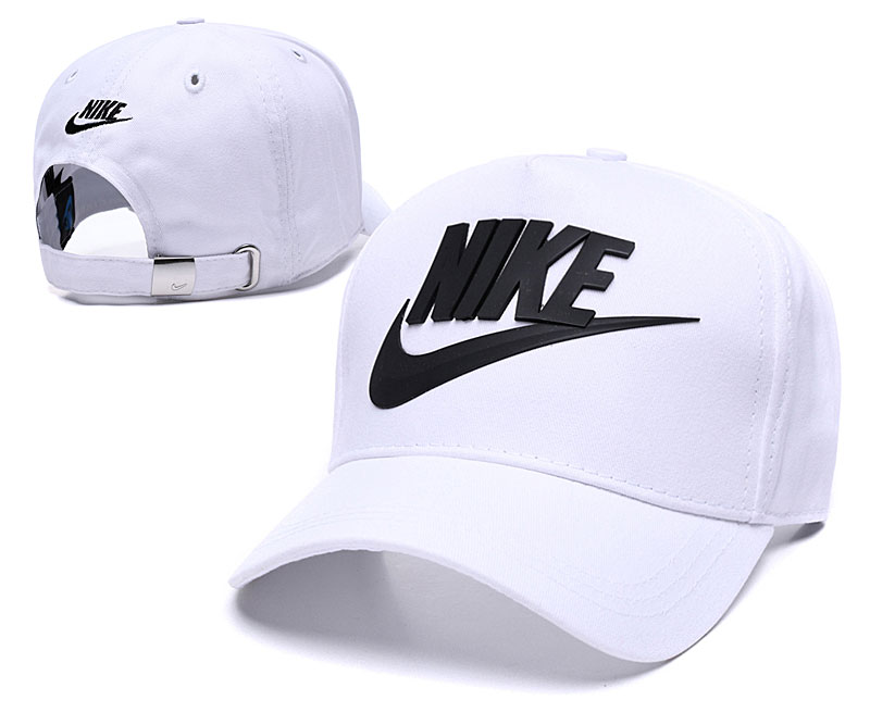 Nike Classic White Peaked Adjustable Hat TX