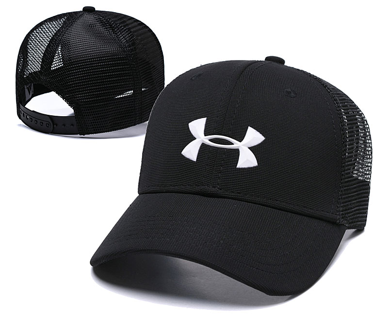 Under Armour Classic Black Mesh Peaked Adjustable Hat TX