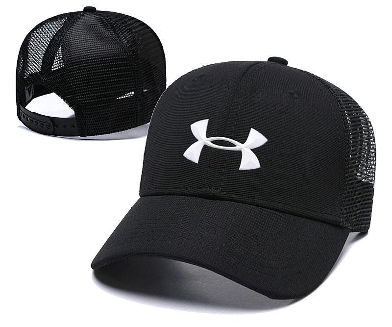 Under Armour Classic Black Mesh Peaked Adjustable Hat TX