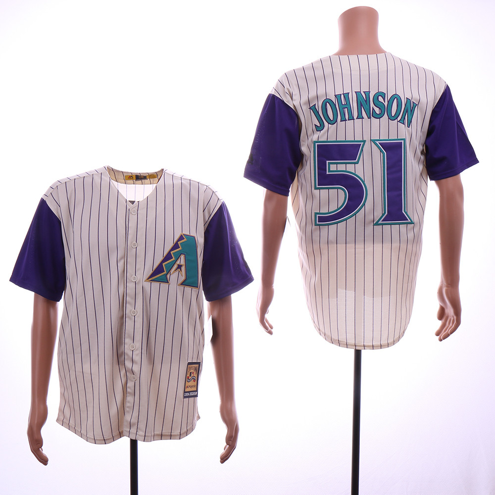 Diamondbacks 51 Randy Johnson Cream Cooperstown Collection Cool Base Jersey