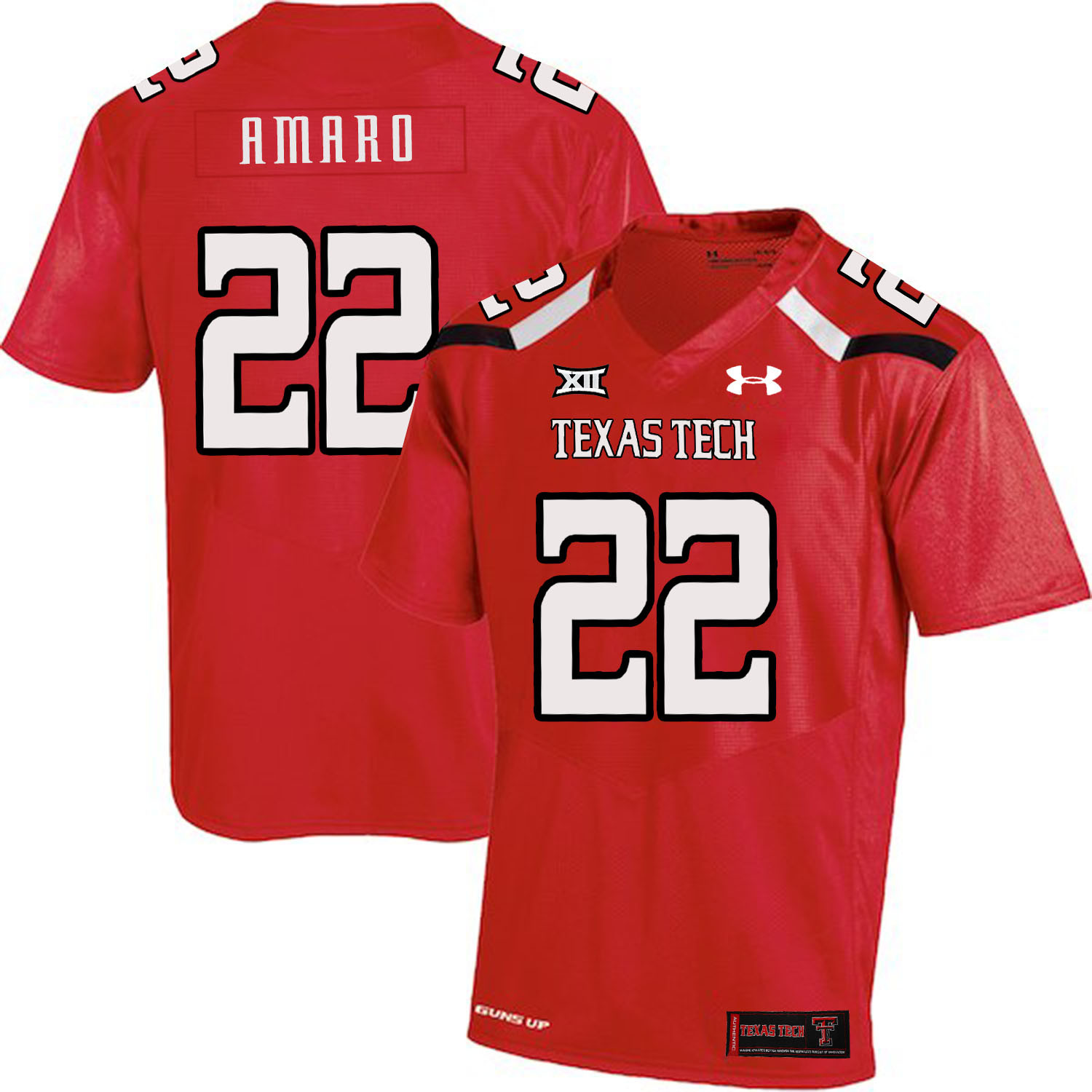 Texas Tech Red Raiders 22 Jace Amaro Red College Football Jersey