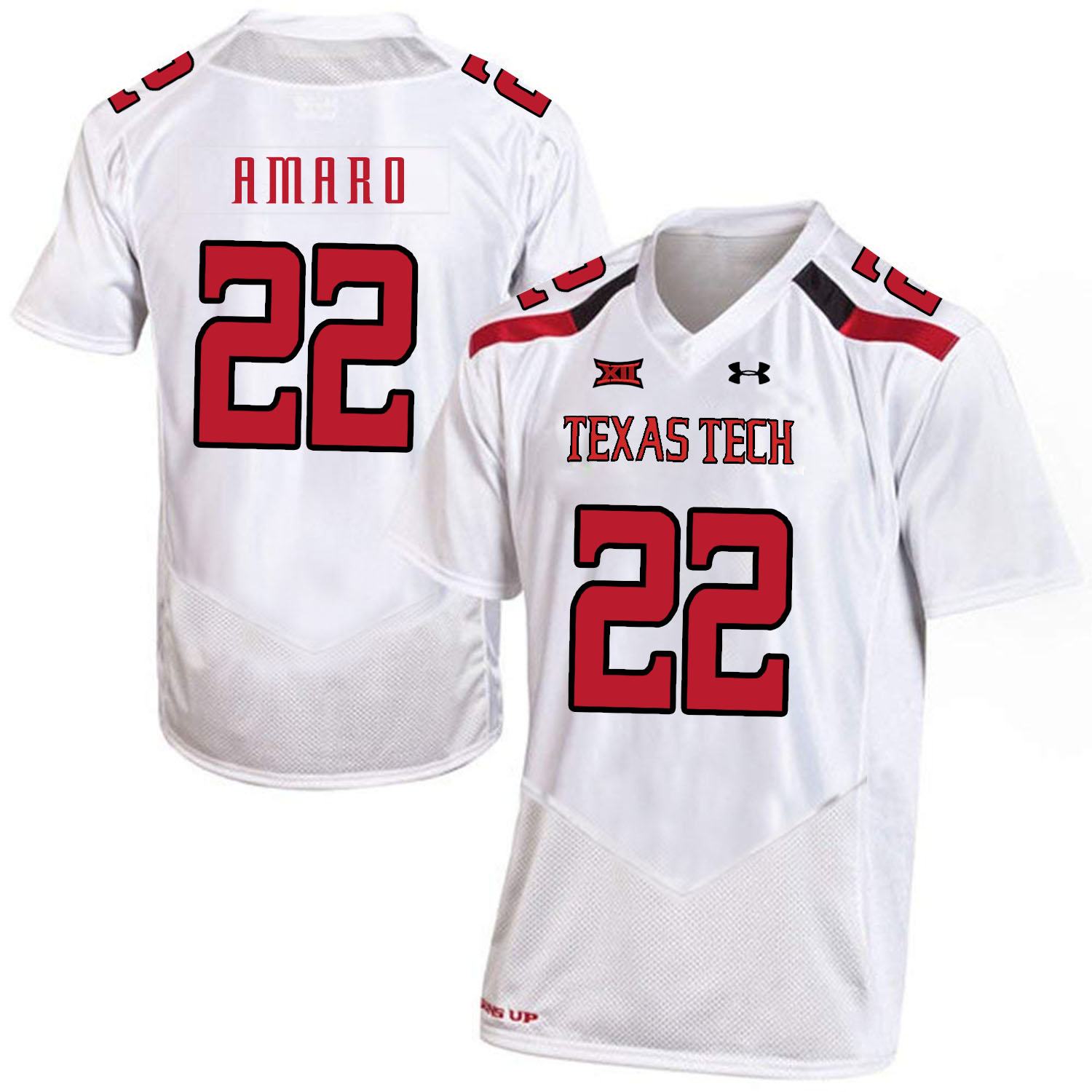 Texas Tech Red Raiders 22 Jace Amaro White College Football Jersey