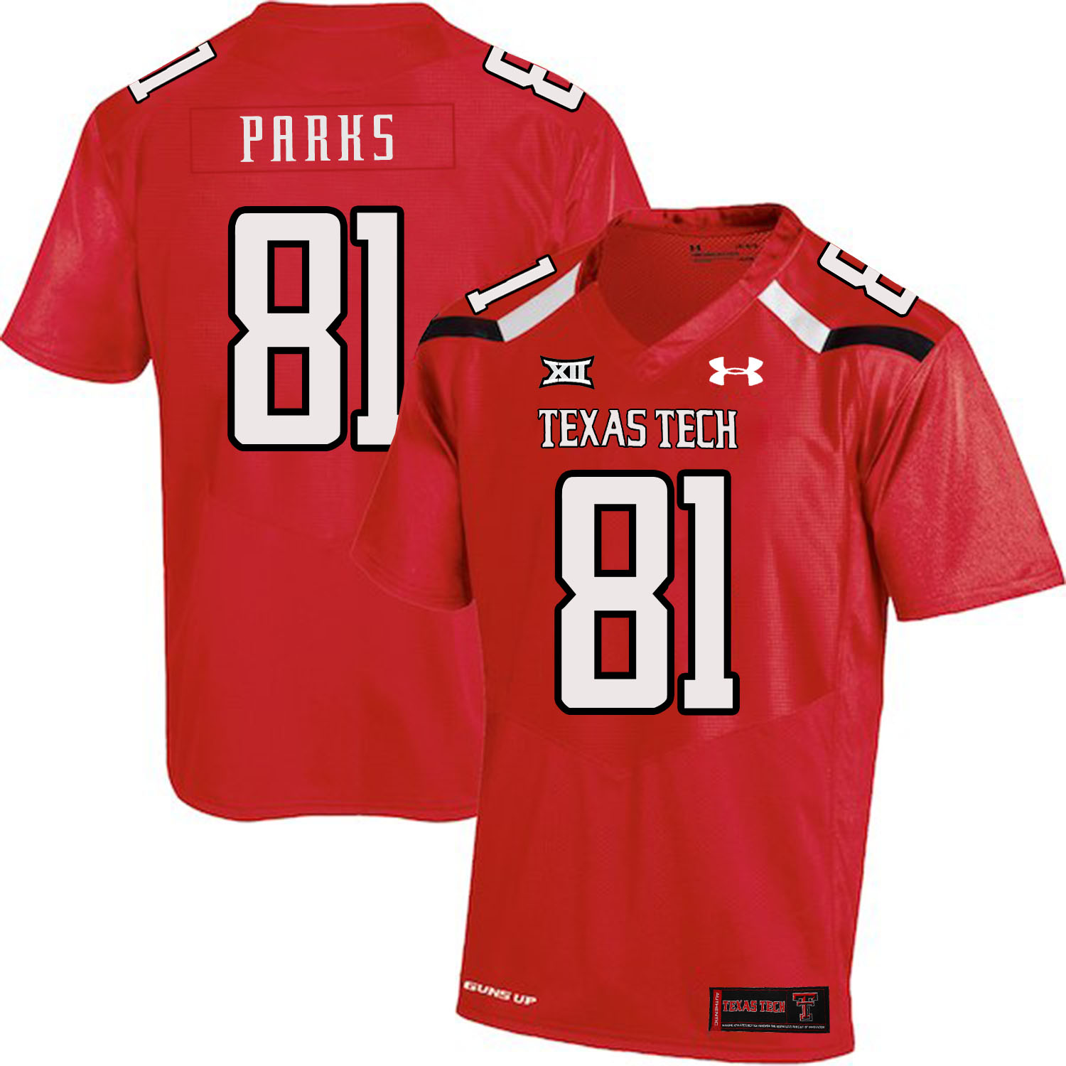 Texas Tech Red Raiders 81 Dave Parks Red College Football Jersey
