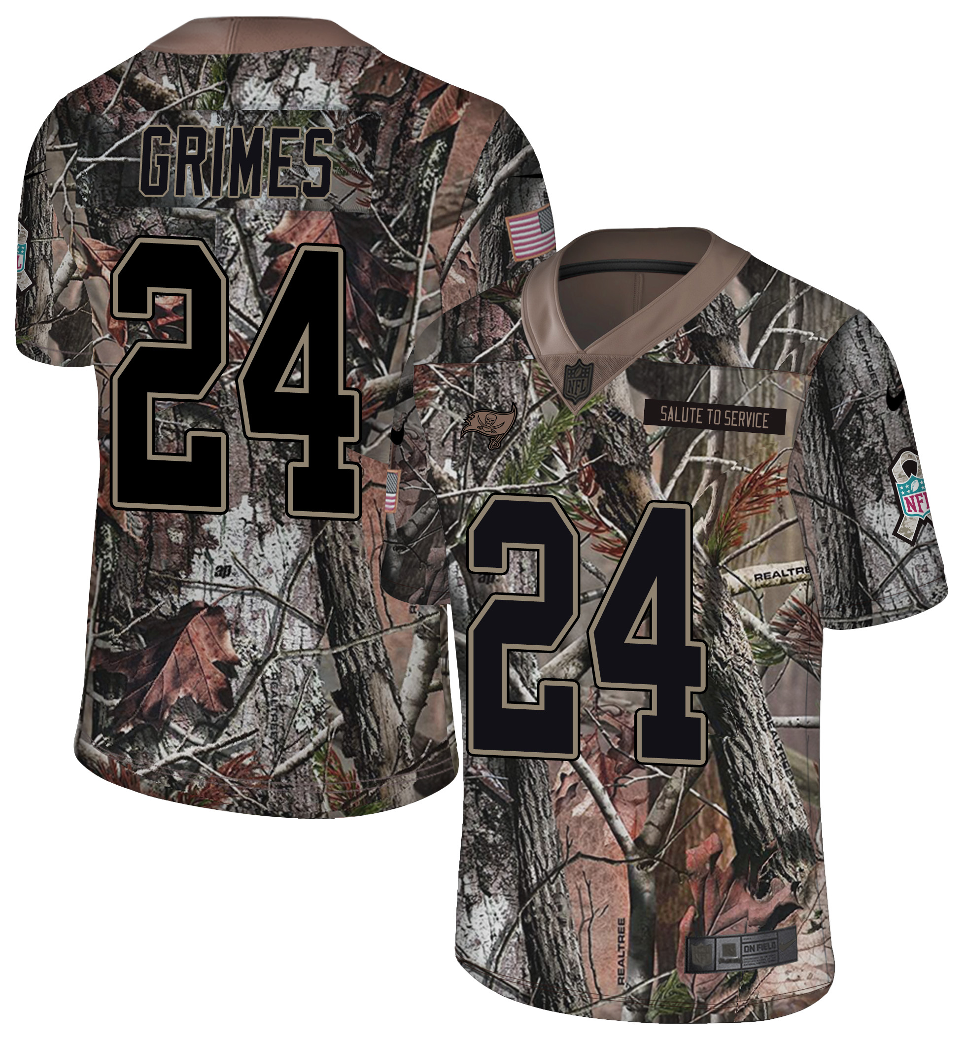 Nike Buccaneers 24 Brent Grimes Camo Rush Limited Jersey