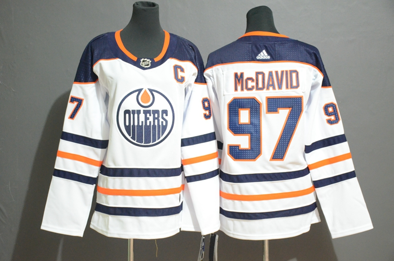 Oilers 97 Connor McDavid White Women Adidas Jersey