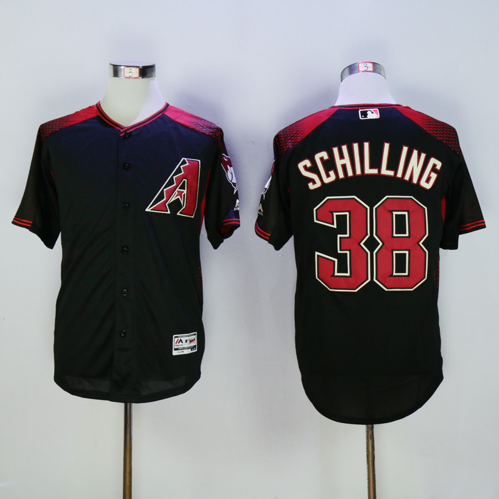 Diamondbacks 38 Curt Schilling Black Flexbase Jersey