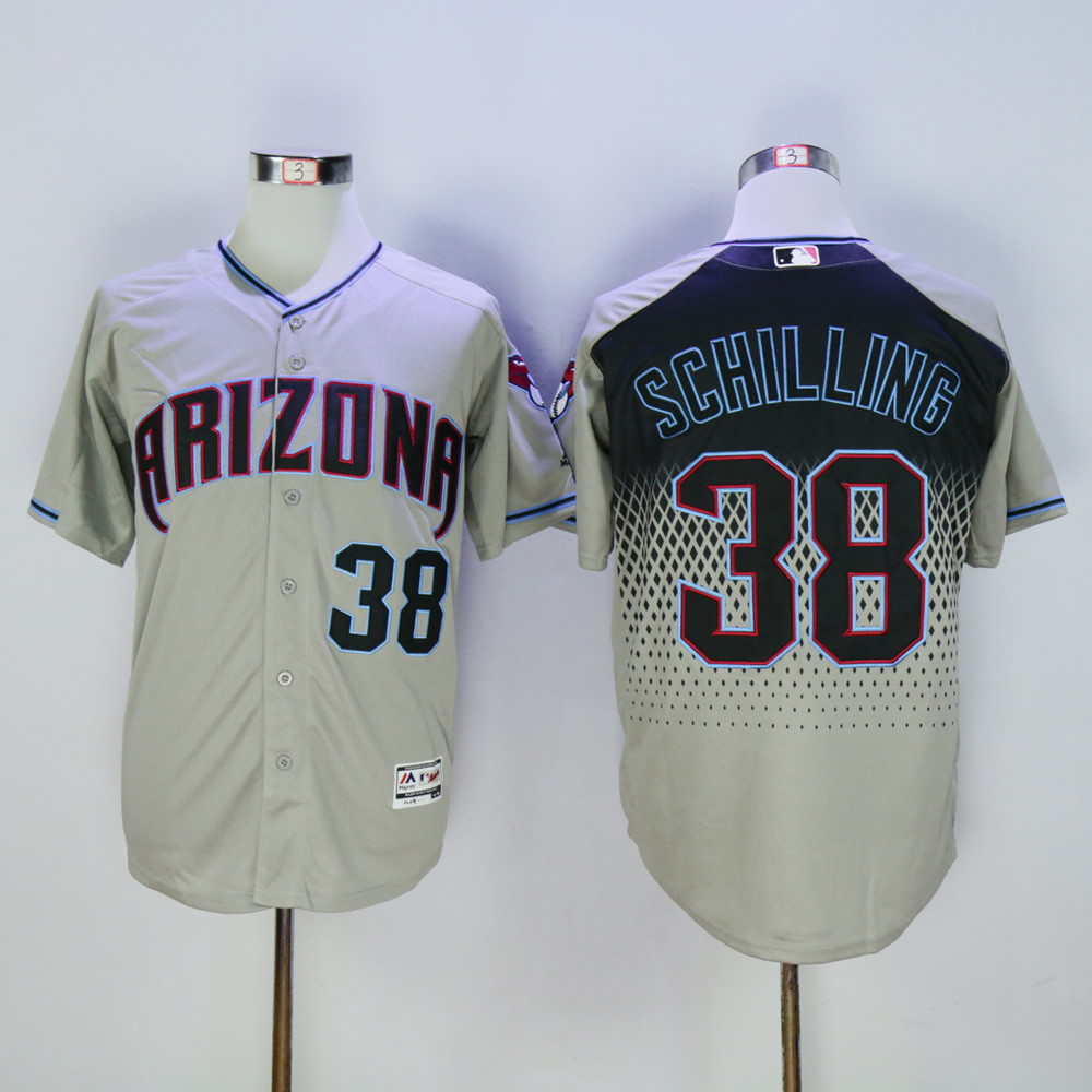 Diamondbacks 38 Curt Schilling Gray Teal Flexbase Jersey
