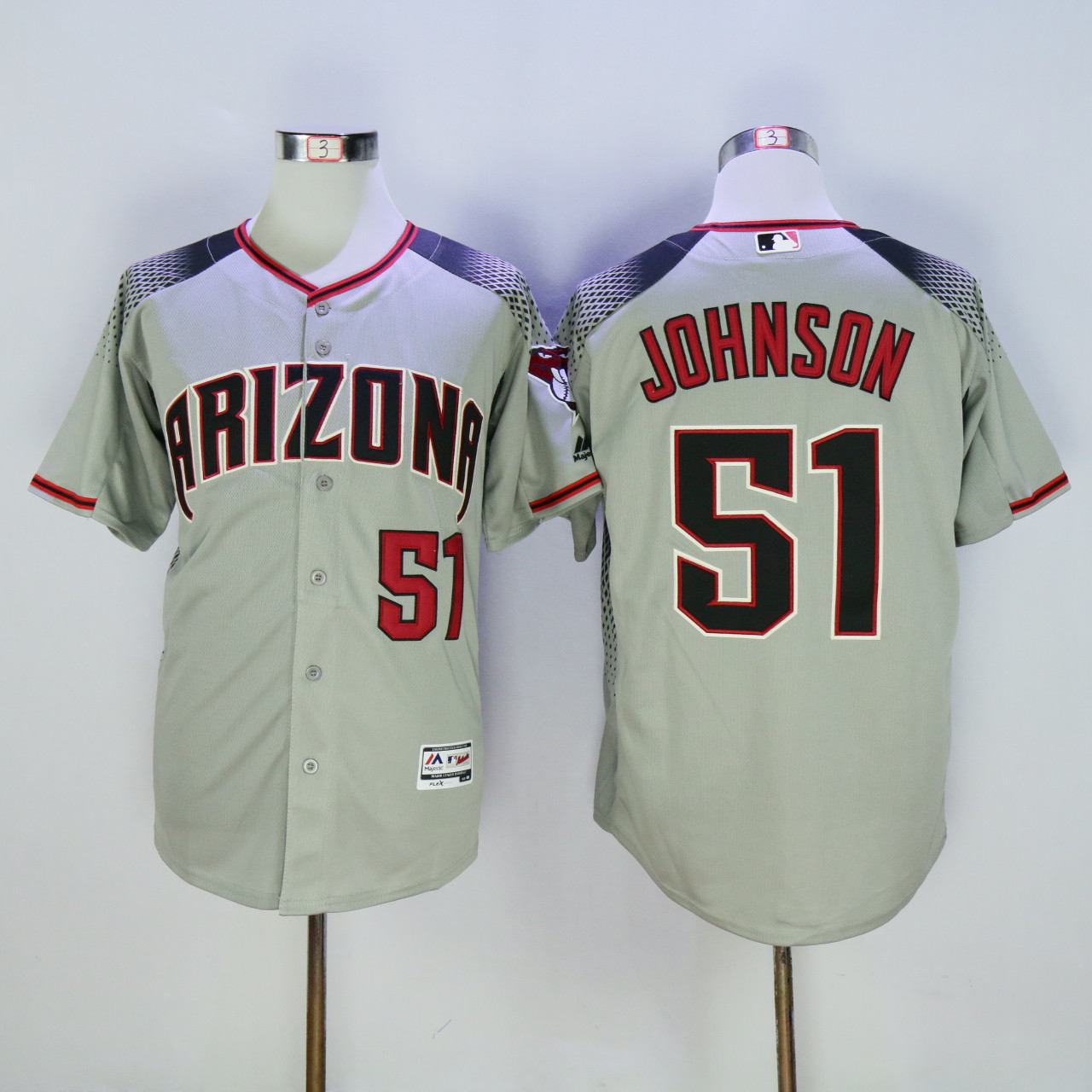 Diamondbacks 51 Randy Johnson Gray Flexbase Jersey